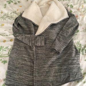 Cozy Gap Fleece Lined Cascade Cardigan